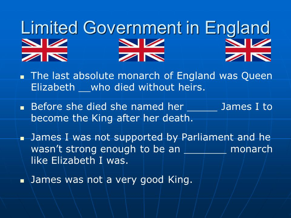 Limited Government in England
