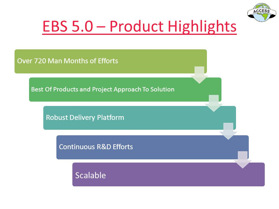 EBS 5.0 – Product Highlights