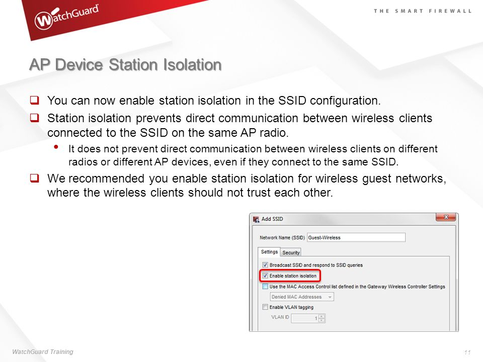 AP Device Station Isolation
