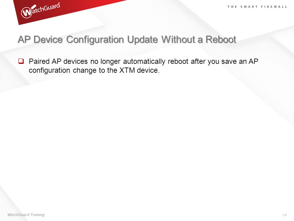 AP Device Configuration Update Without a Reboot