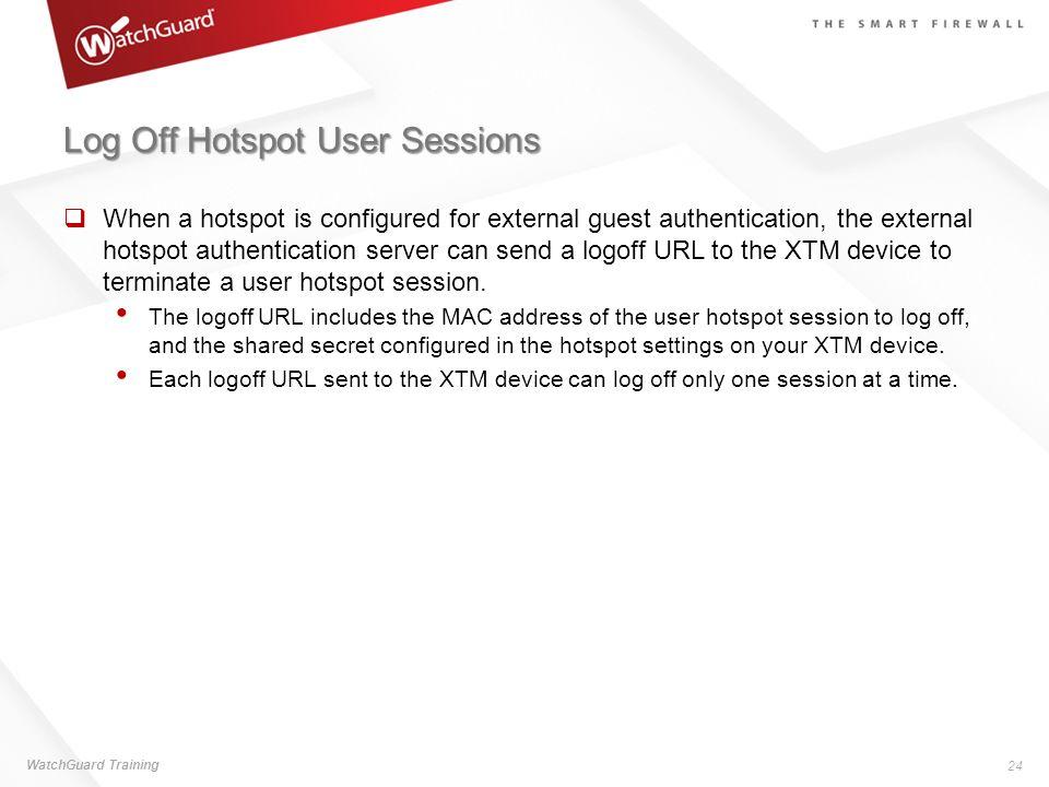 Log Off Hotspot User Sessions