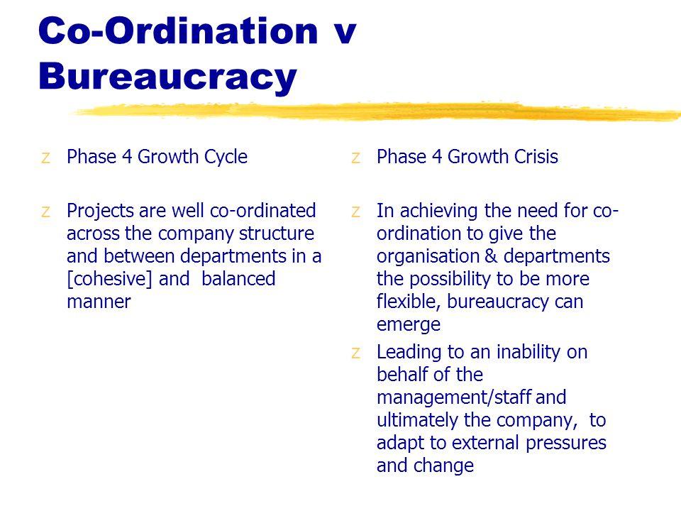 Co-Ordination v Bureaucracy