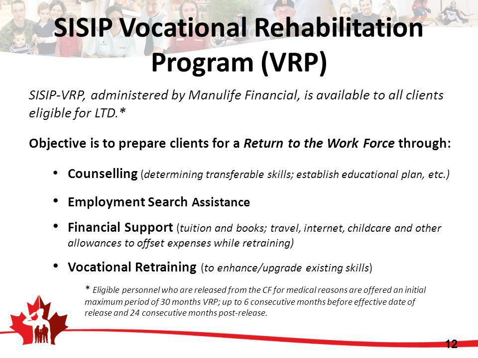 SISIP Vocational Rehabilitation Program (VRP)