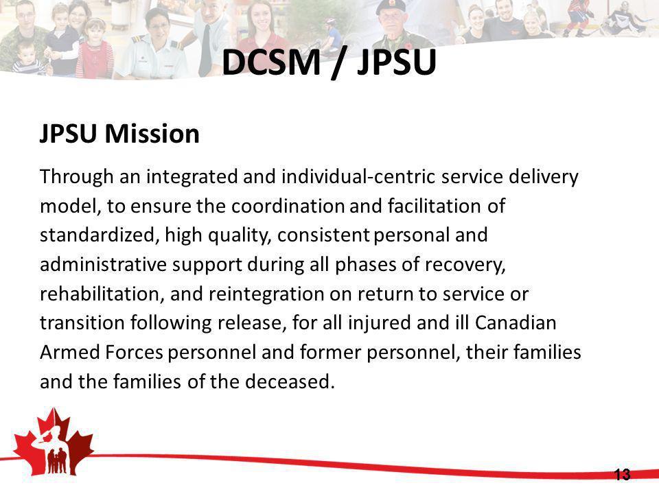 DCSM / JPSU JPSU Mission