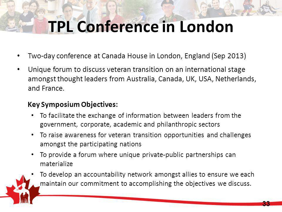 TPL Conference in London