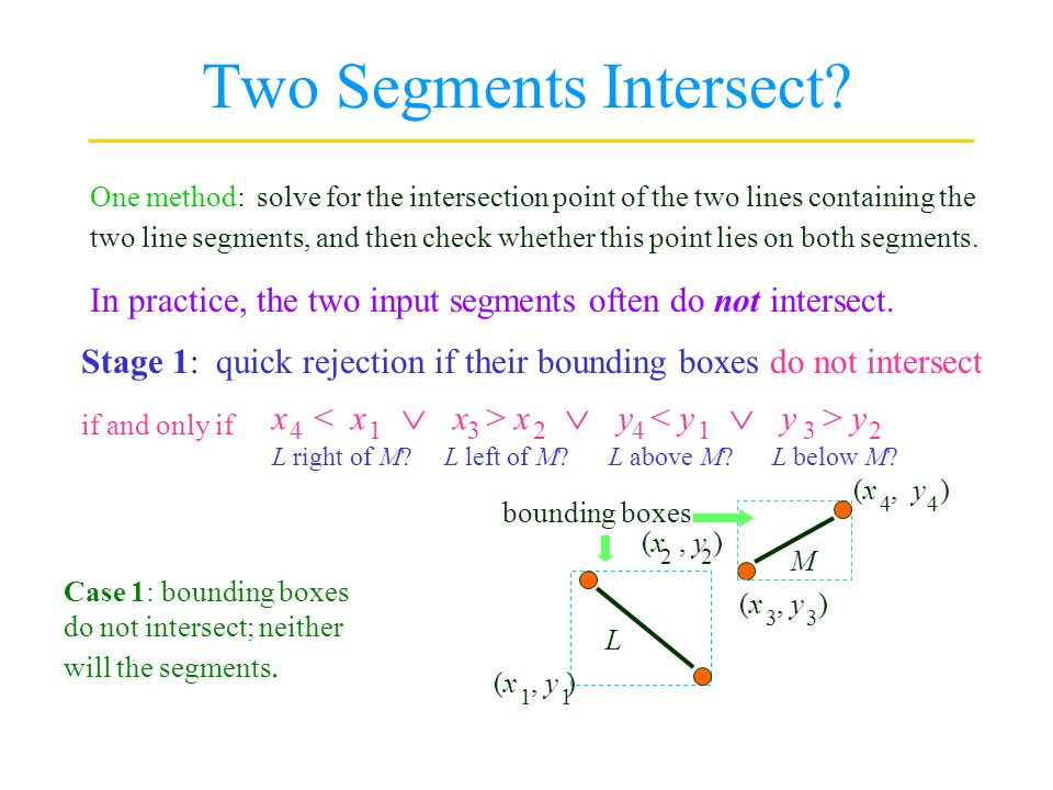 Two Segments Intersect