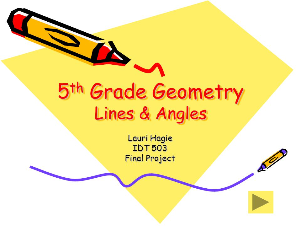 5th Grade Geometry Lines & Angles