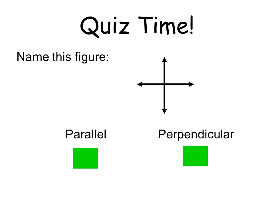 Quiz Time! Name this figure: Parallel Perpendicular