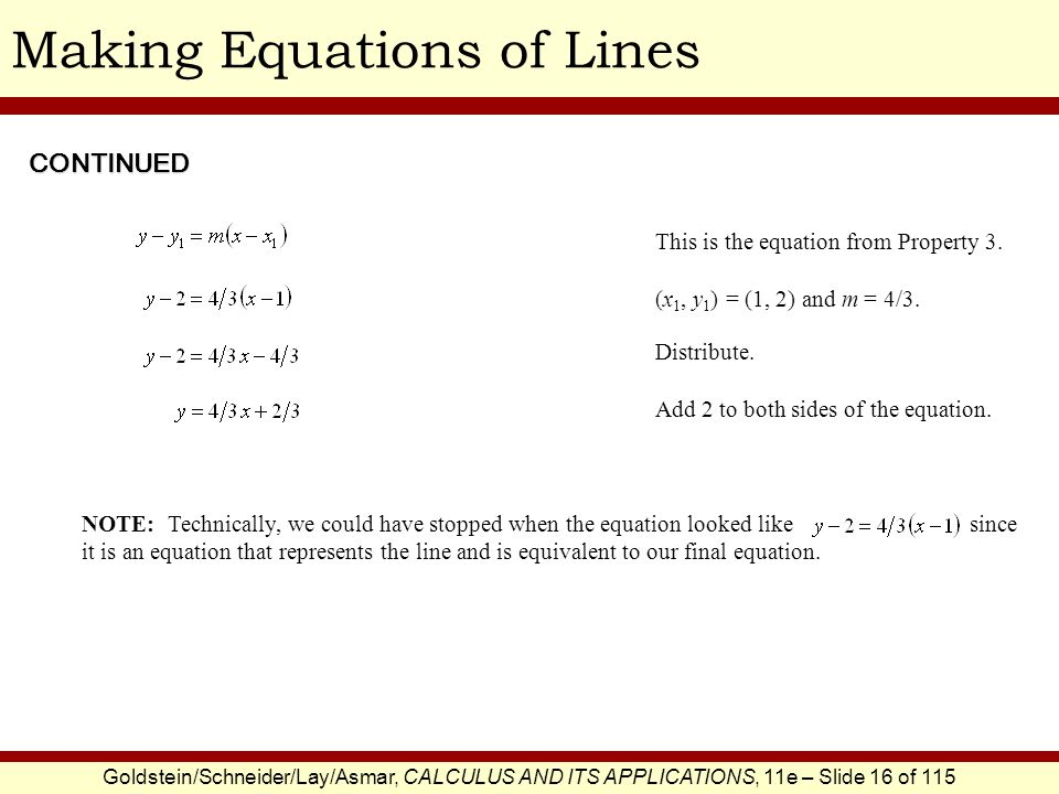 Making Equations of Lines