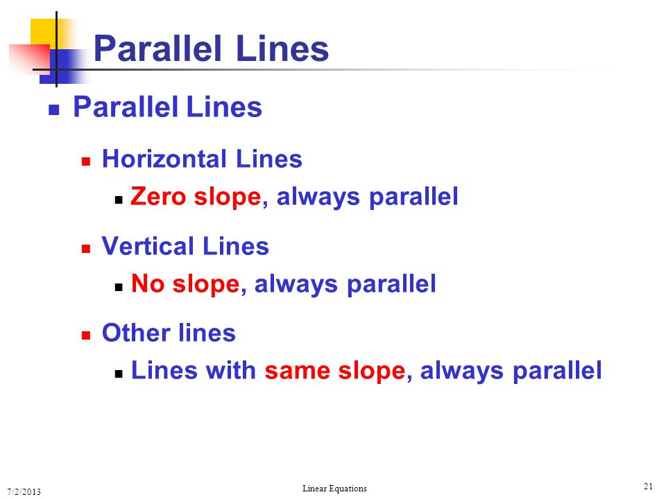 Parallel Lines Parallel Lines Horizontal Lines