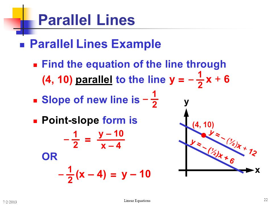Parallel Lines  Parallel Lines Example