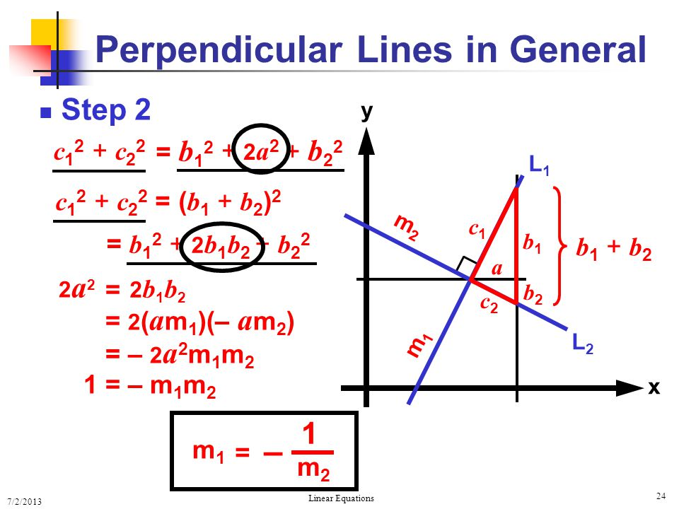 Perpendicular Lines in General