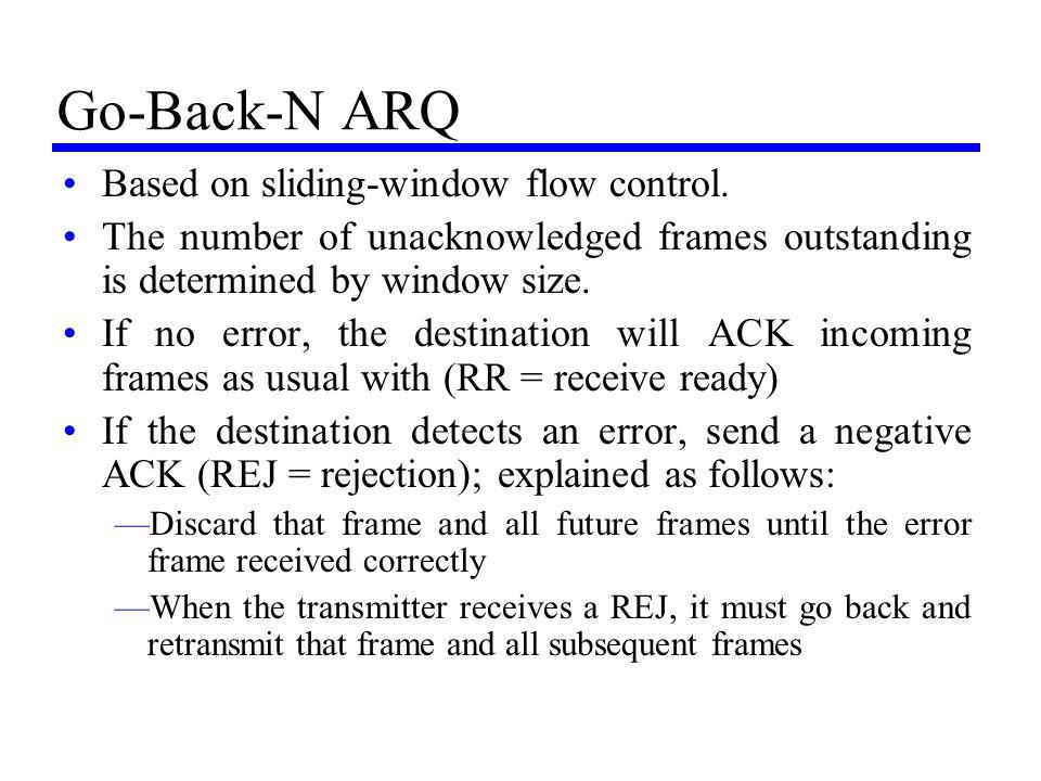 Go-Back-N ARQ Based on sliding-window flow control.