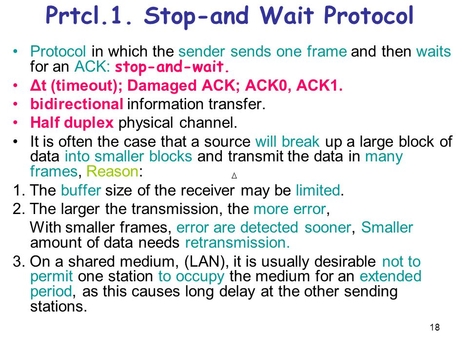 Prtcl.1. Stop-and Wait Protocol