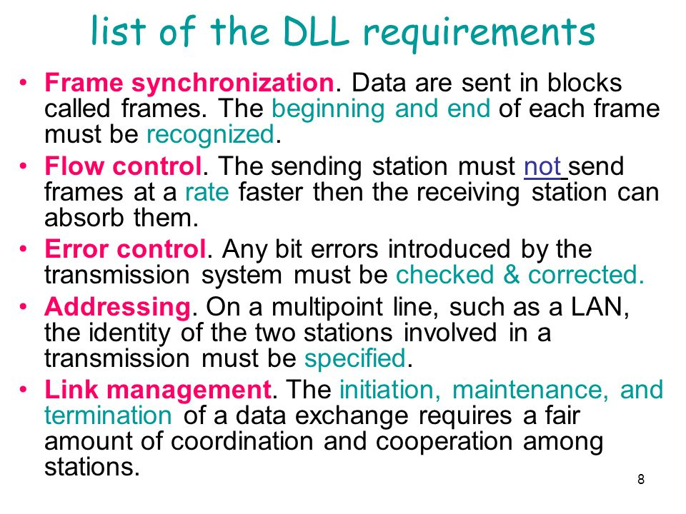 list of the DLL requirements