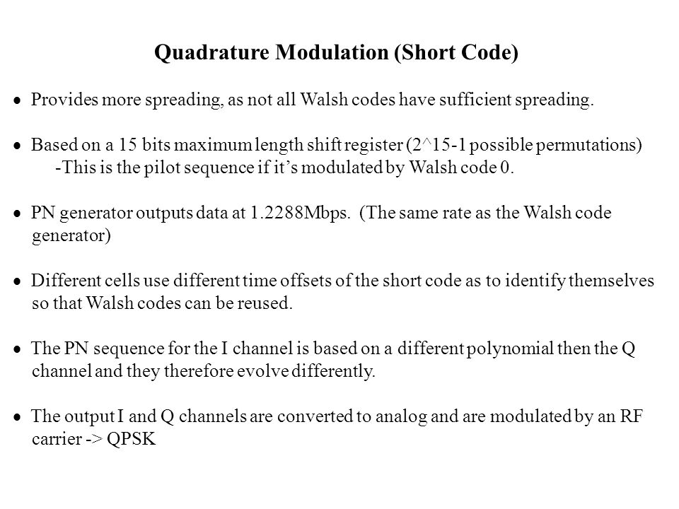 Quadrature Modulation (Short Code)
