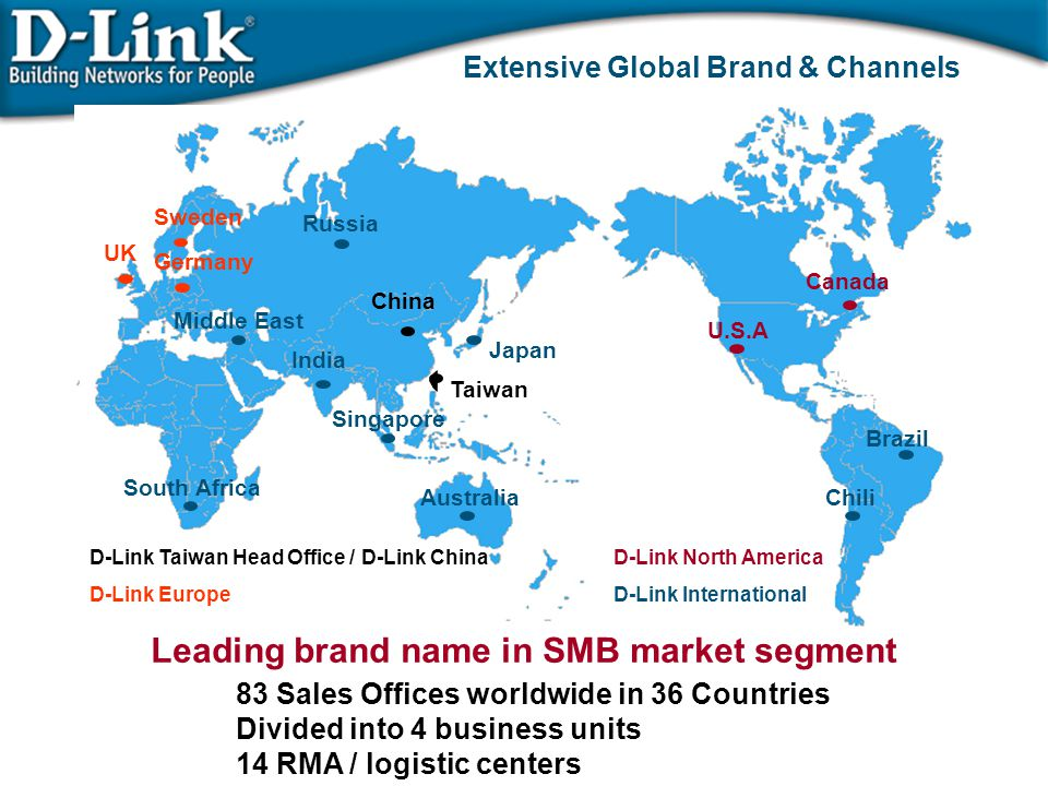 Extensive Global Brand & Channels