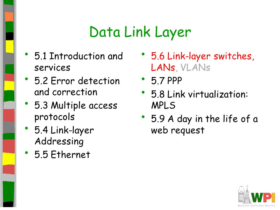 Data Link Layer 5.1 Introduction and services