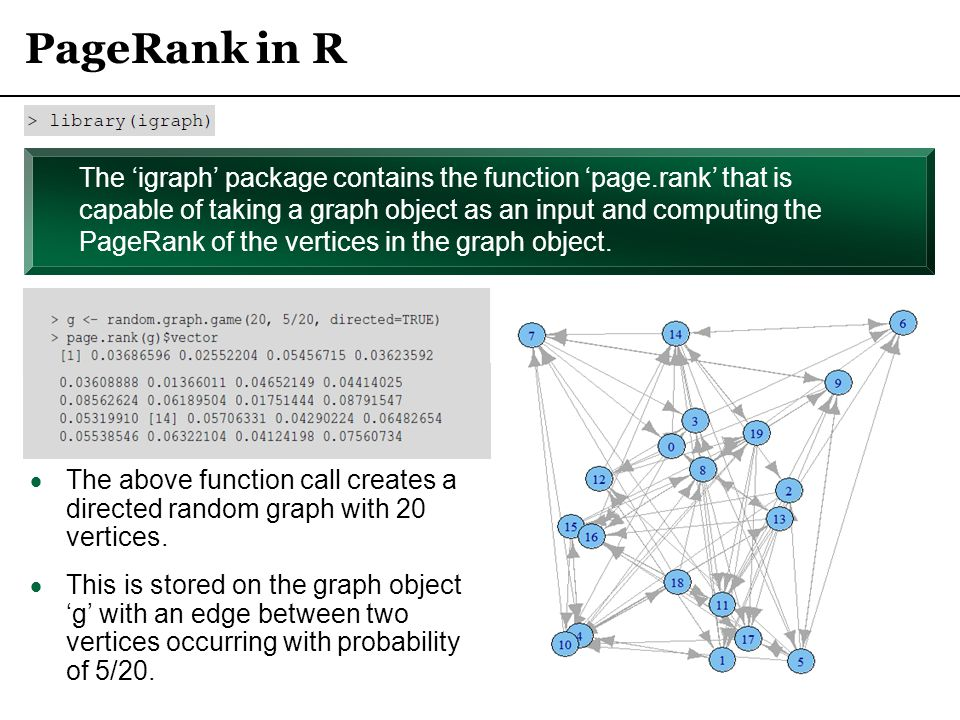 PageRank in R