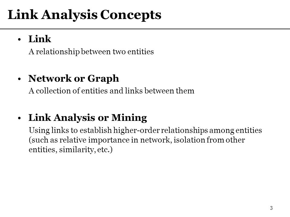 Link Analysis Concepts