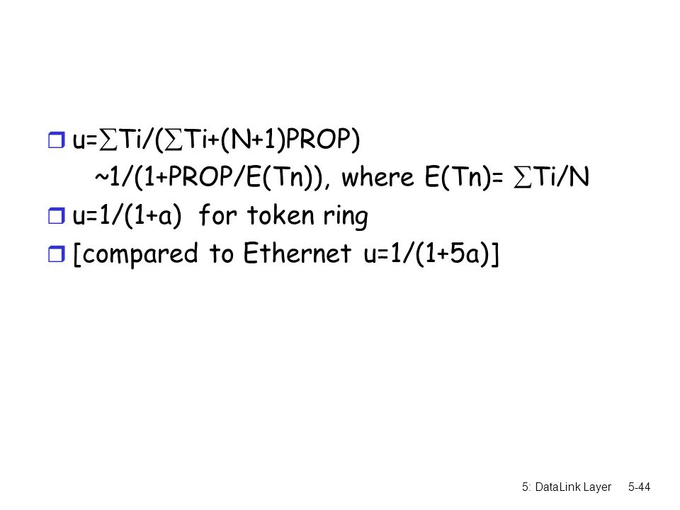 u=Ti/(Ti+(N+1)PROP) ~1/(1+PROP/E(Tn)), where E(Tn)= Ti/N