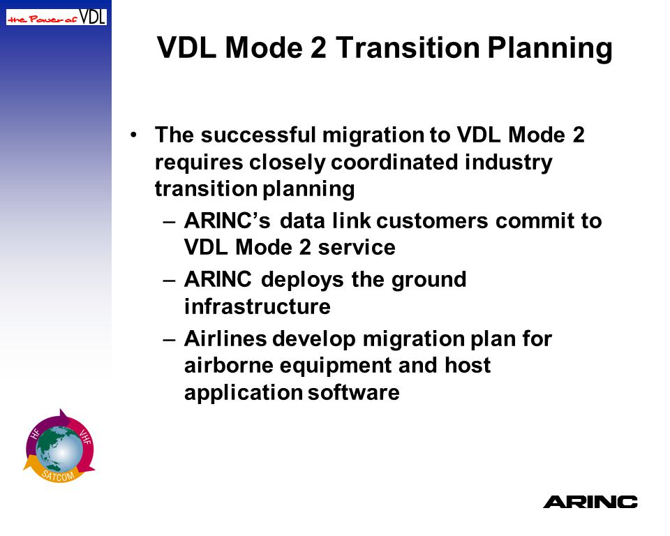 VDL Mode 2 Transition Planning