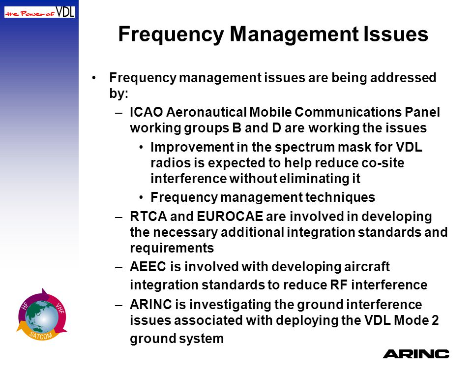 Frequency Management Issues