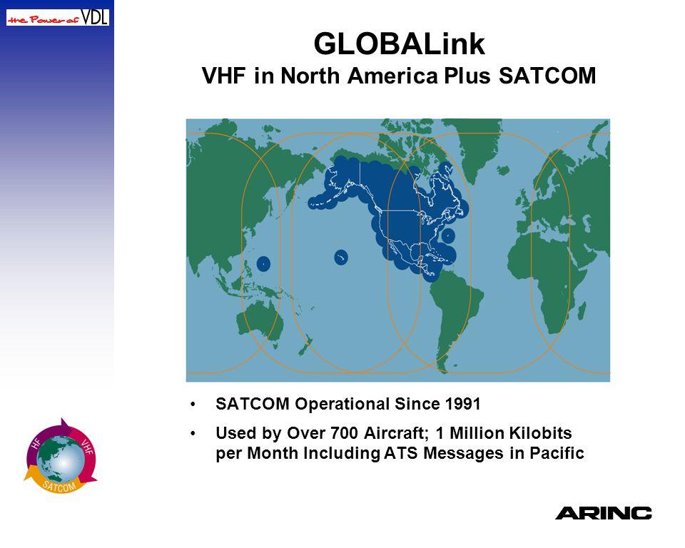GLOBALink VHF in North America Plus SATCOM