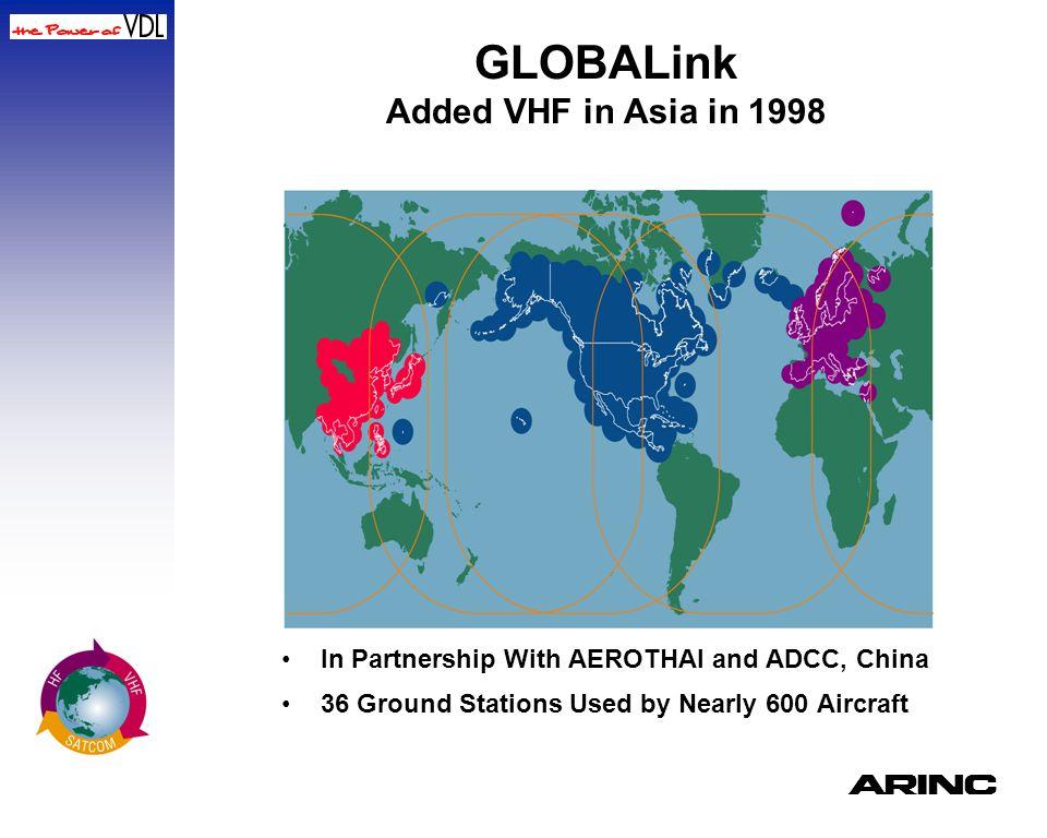 GLOBALink Added VHF in Asia in 1998