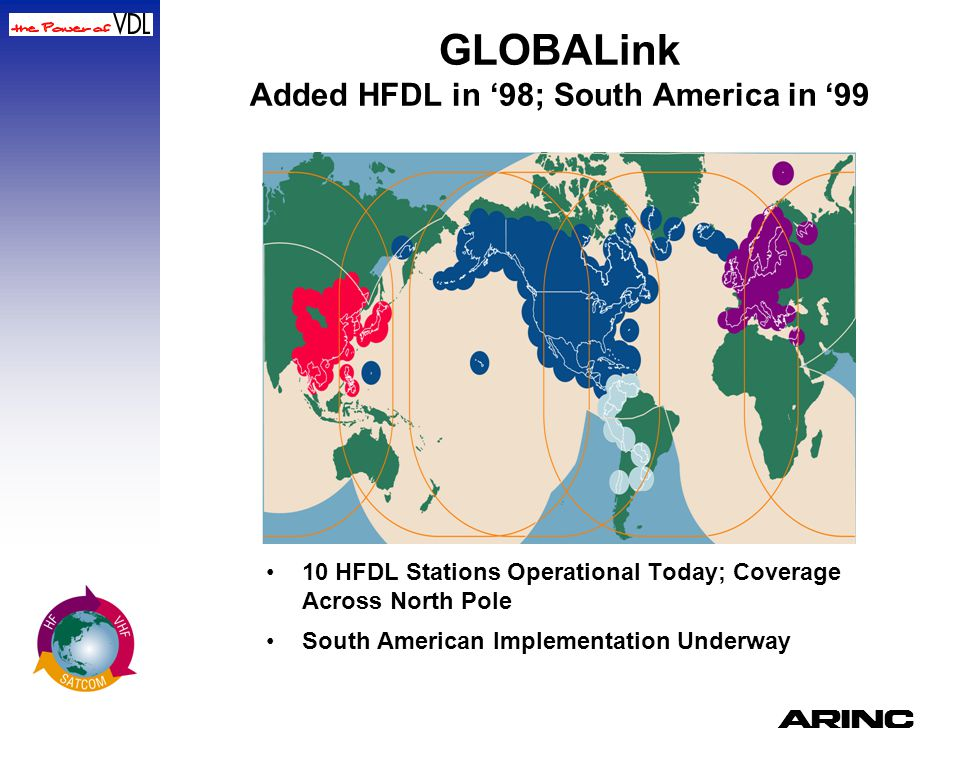 GLOBALink Added HFDL in '98; South America in '99