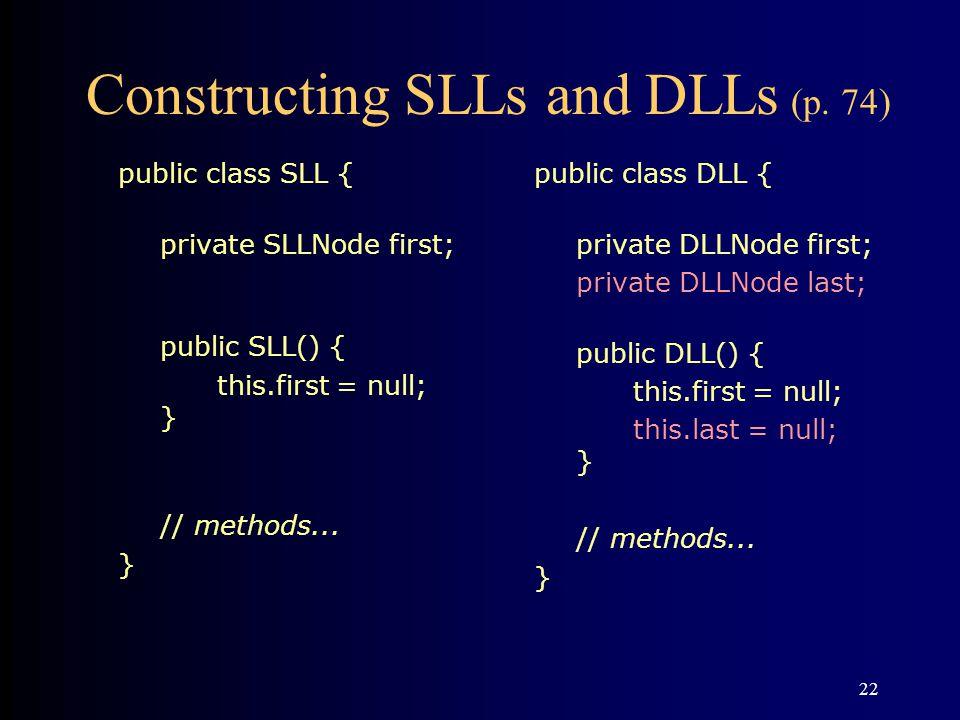 Constructing SLLs and DLLs (p. 74)