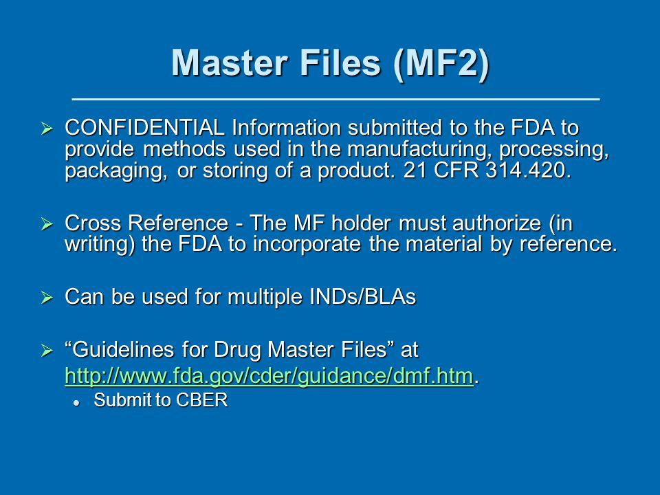 Master Files (MF2)
