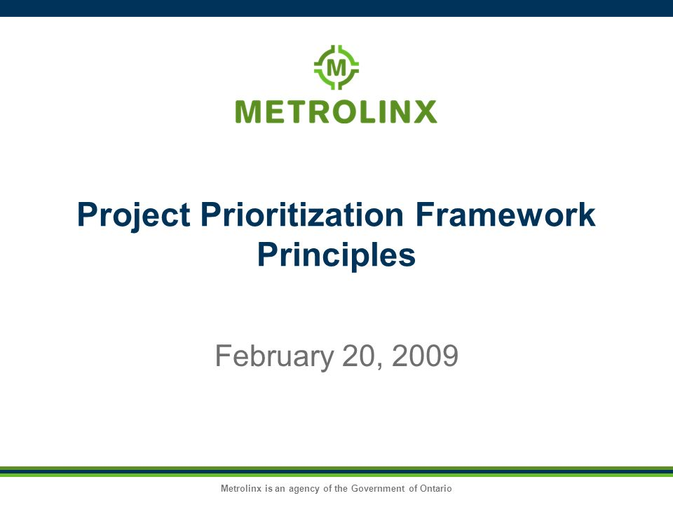 Project Prioritization Framework Principles