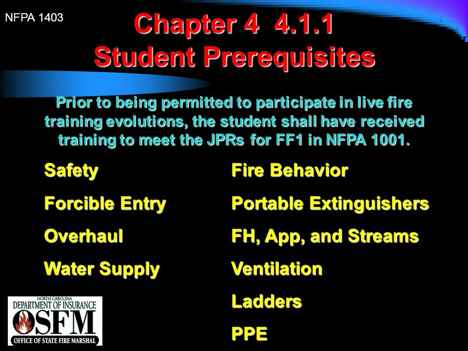 Student Prerequisites