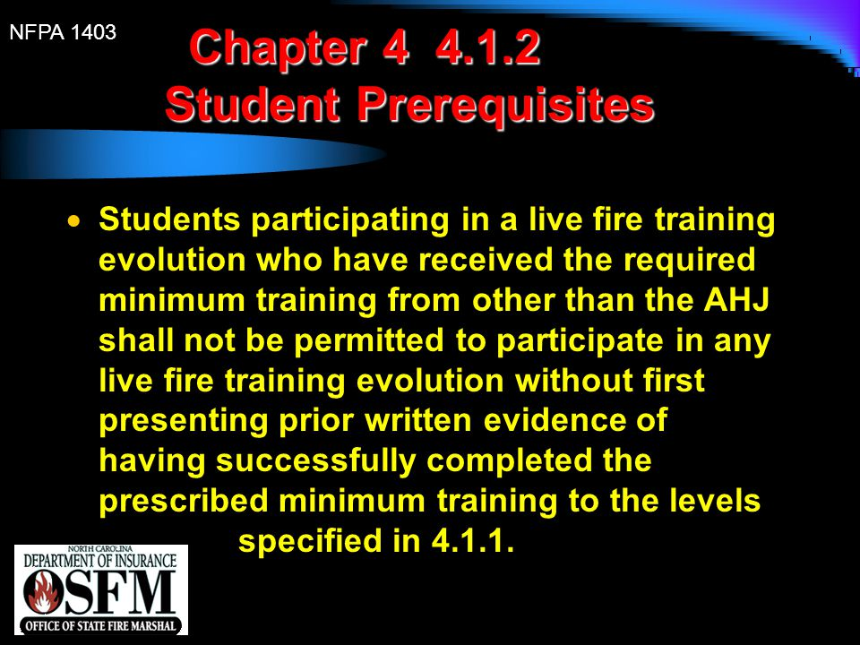 Chapter 4 4.1.2 Student Prerequisites
