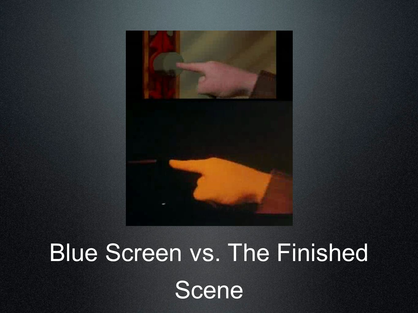 Blue Screen vs. The Finished Scene