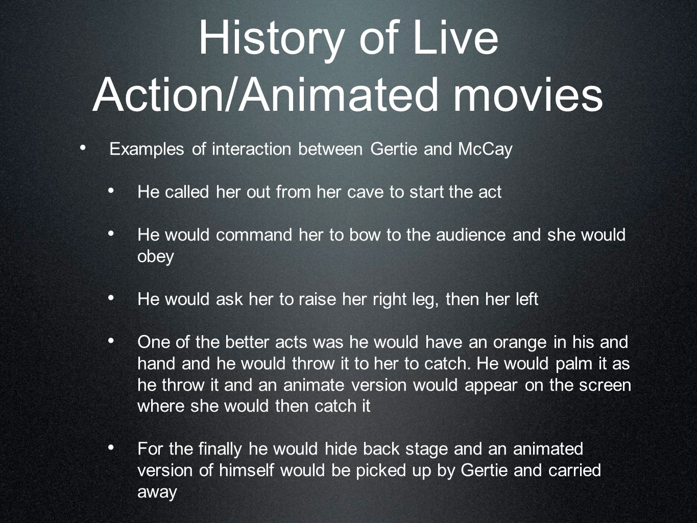 History of Live Action/Animated movies