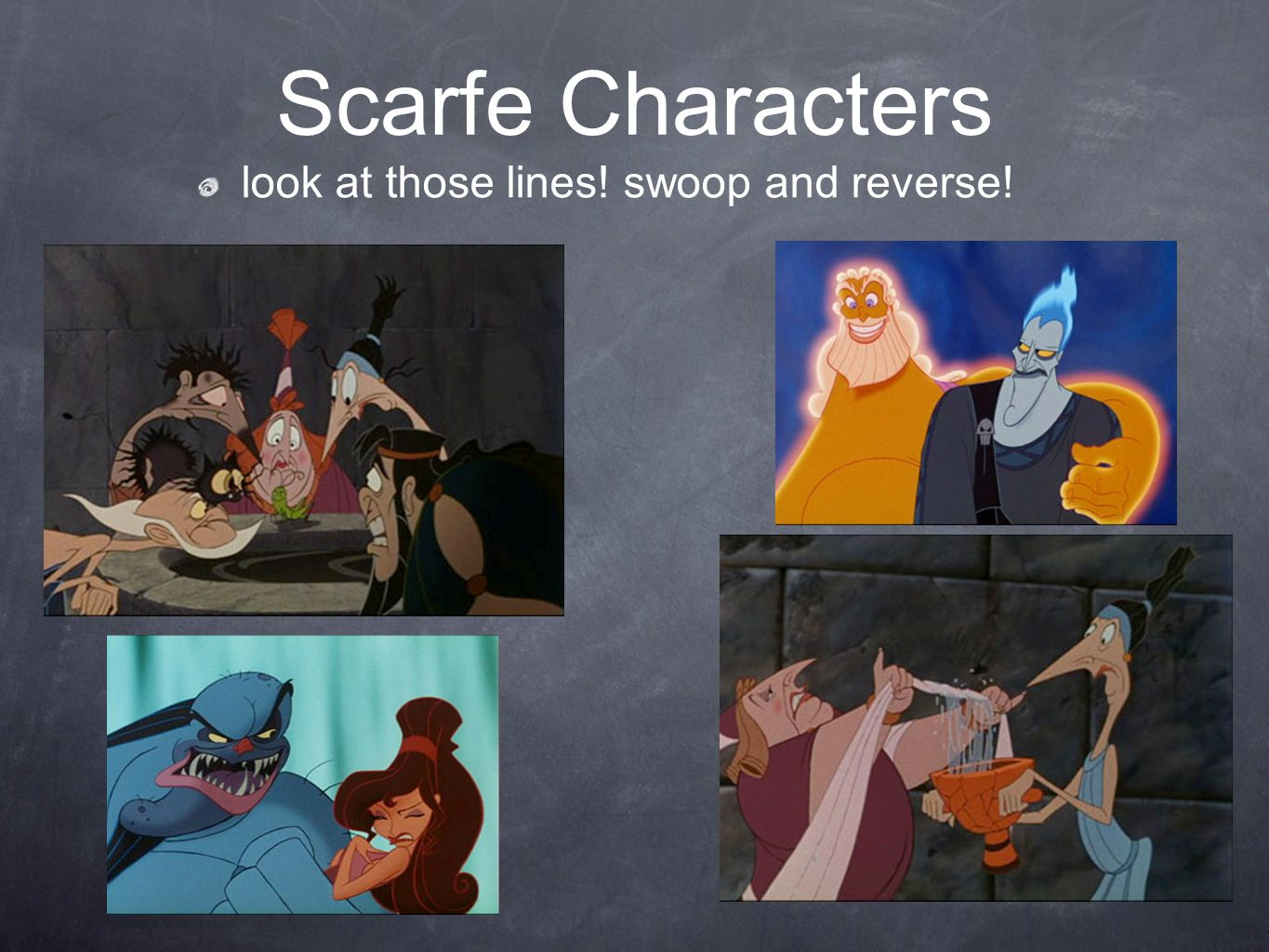 Scarfe Characters look at those lines! swoop and reverse!