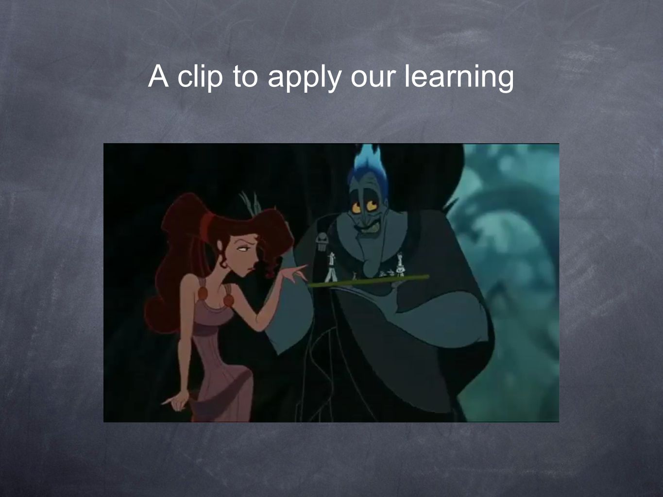 A clip to apply our learning