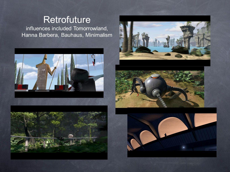 Retrofuture influences included Tomorrowland,