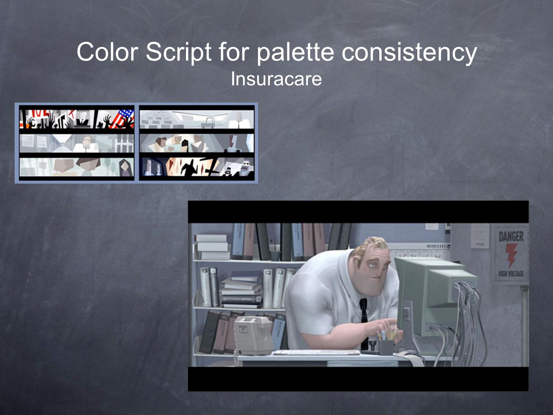 Color Script for palette consistency Insuracare