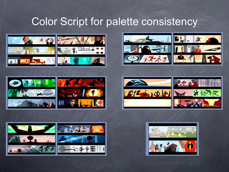 Color Script for palette consistency