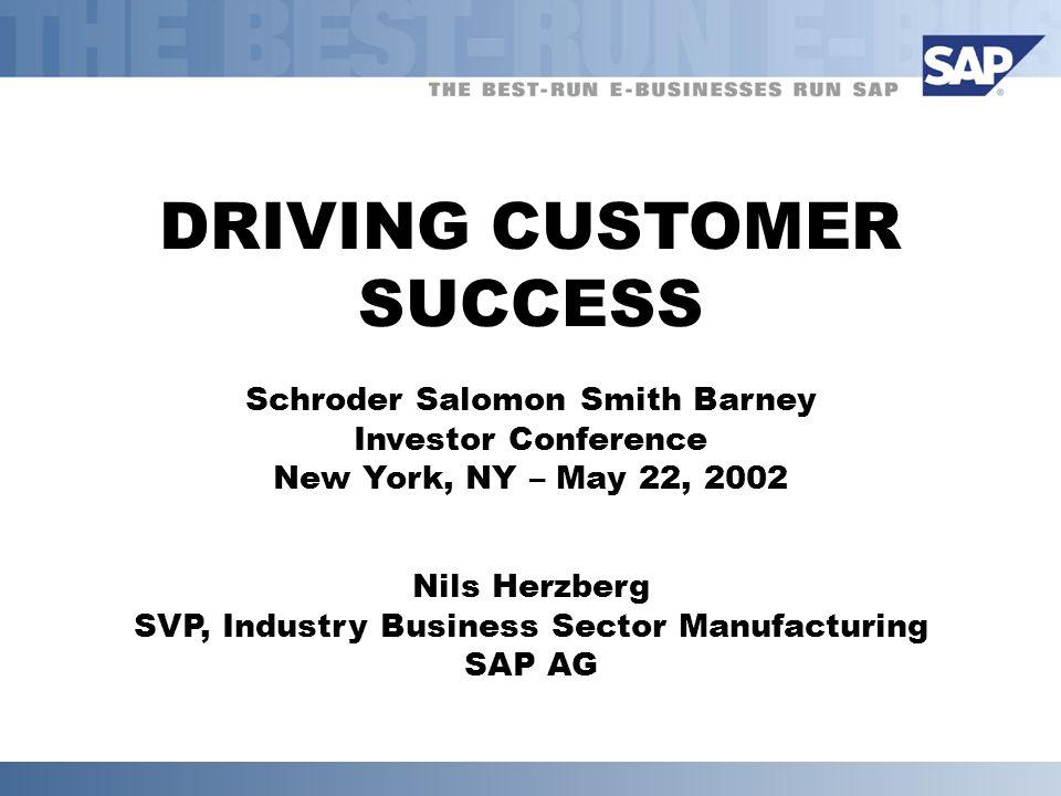 DRIVING CUSTOMER SUCCESS