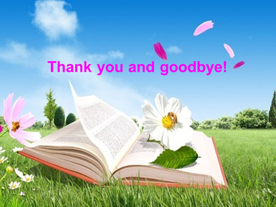 Thank you and goodbye!