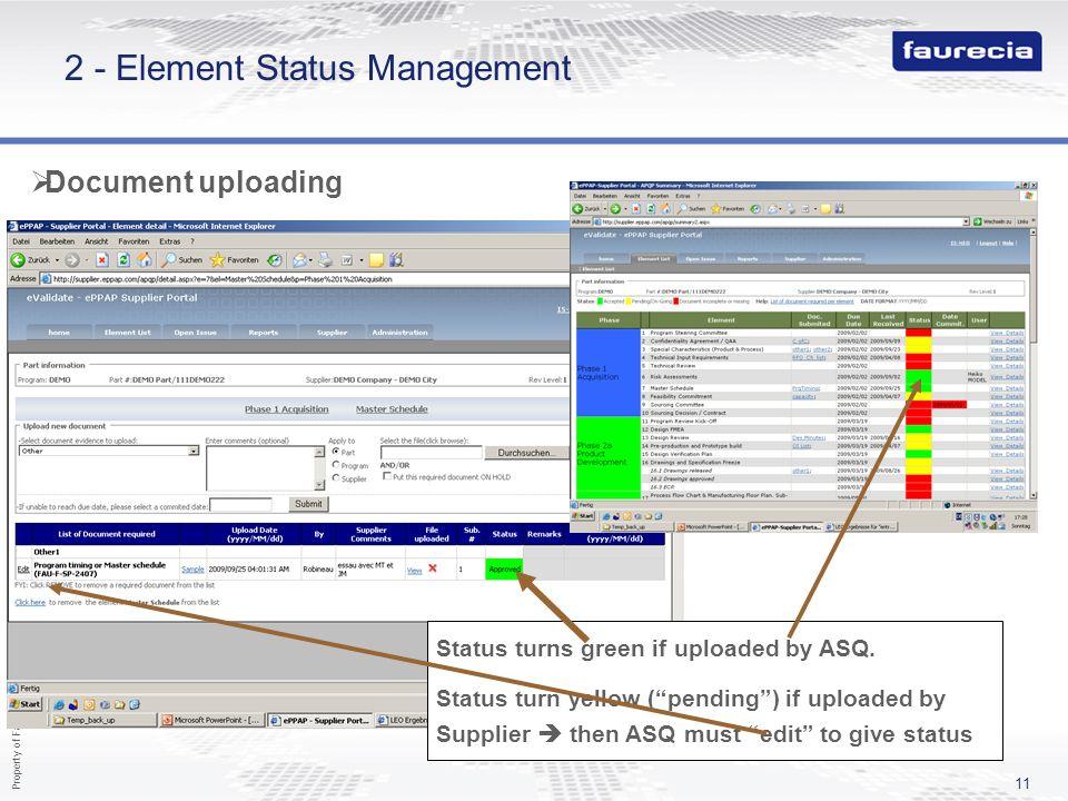 2 - Element Status Management