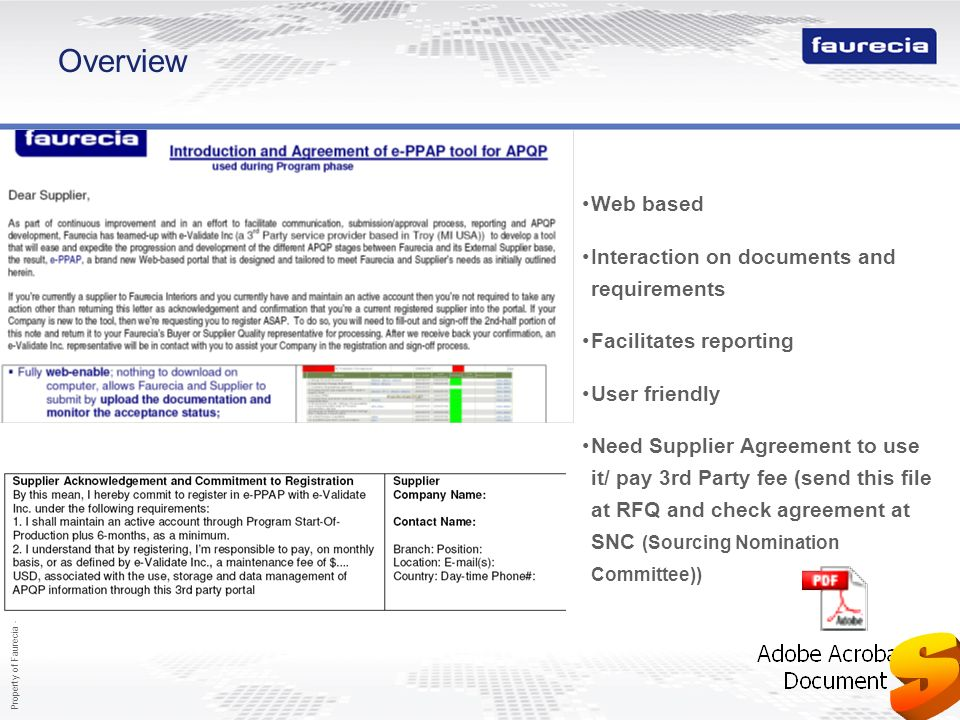 S Overview Web based Interaction on documents and requirements