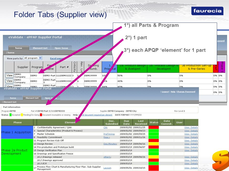 Folder Tabs (Supplier view)