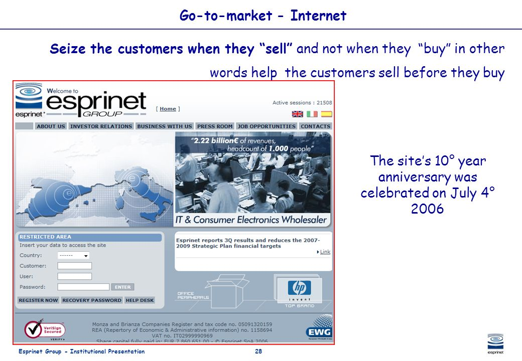 Go-to-market - Internet