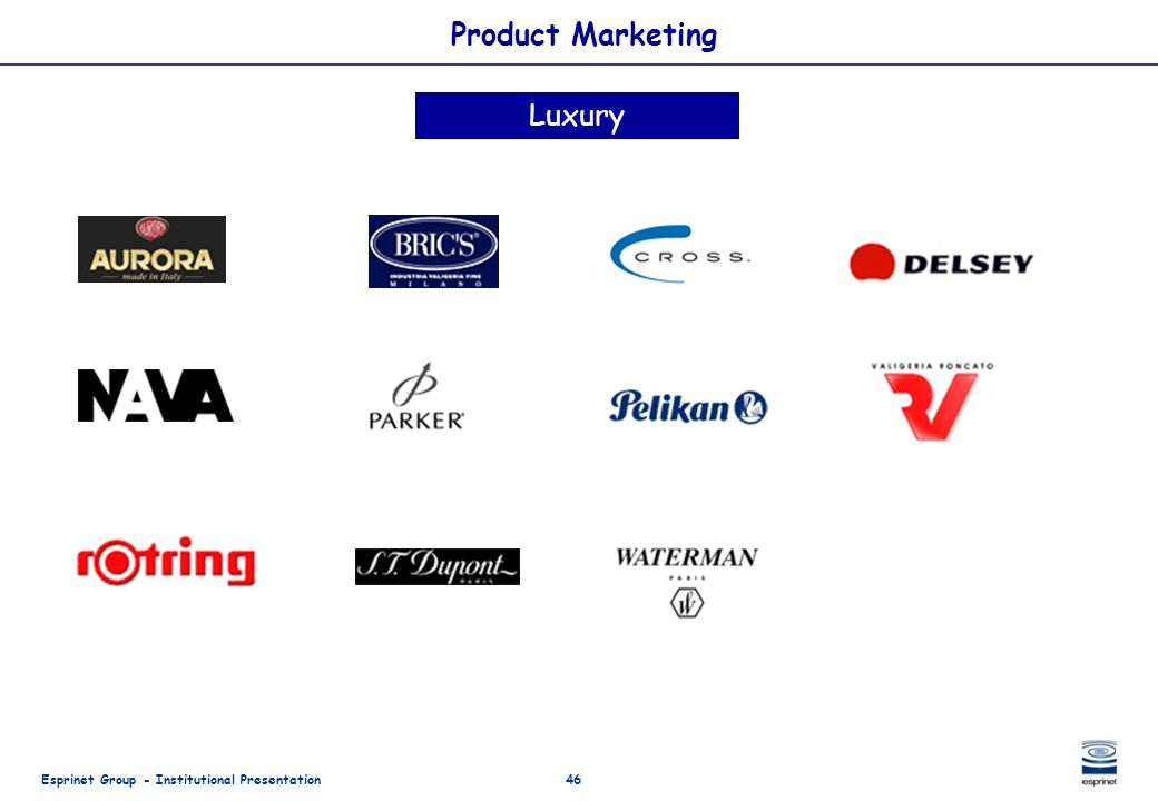 Product Marketing Luxury