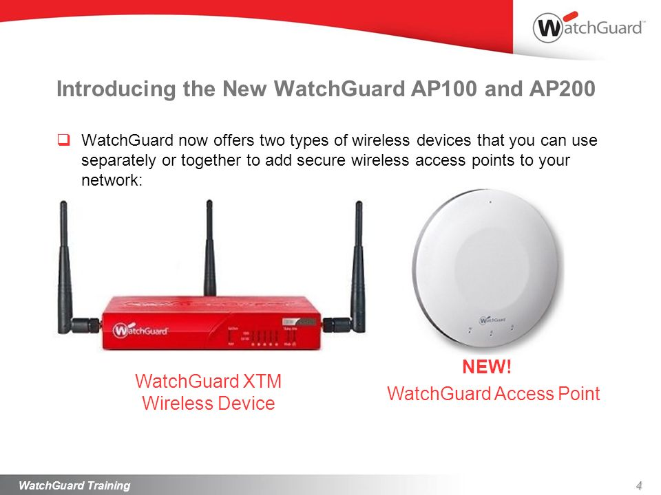 Introducing the New WatchGuard AP100 and AP200